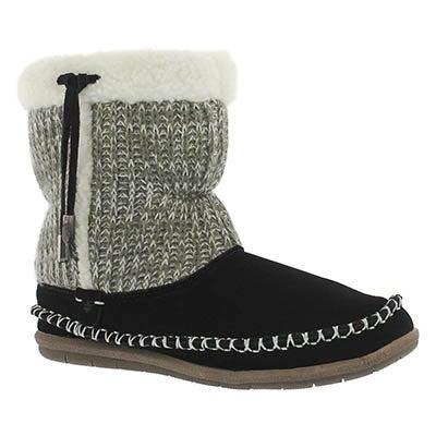 Foamtreads Women's ALANA black bootie slippers