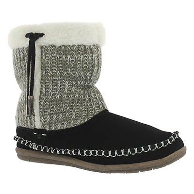 Lds Alana black bootie slipper