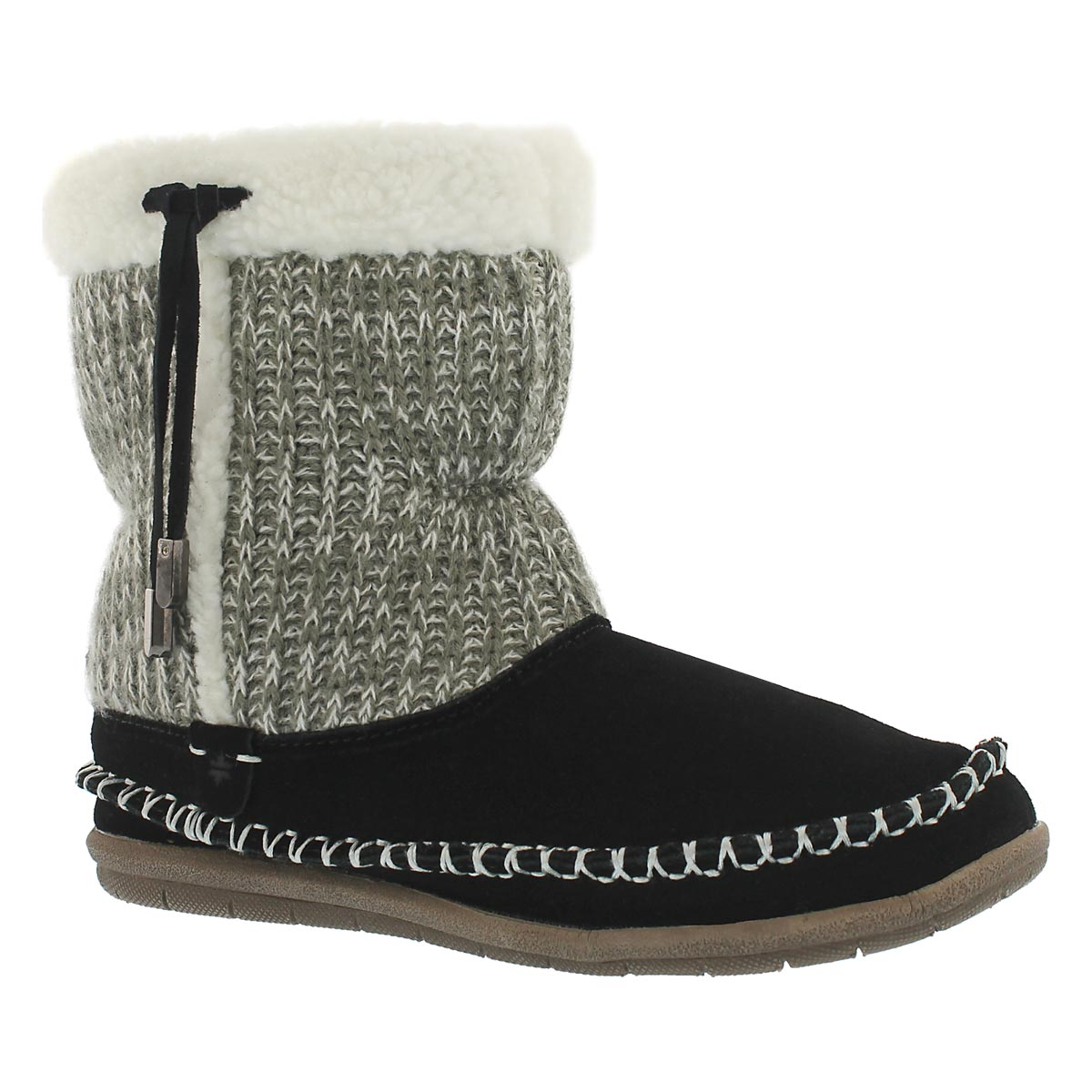 Women's ALANA black bootie slippers