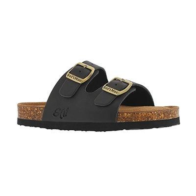 Kds Alberta 5 blk crz memory foam sandal
