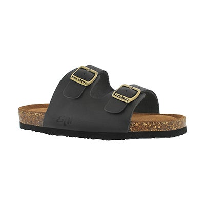 SoftMoc Kids' ALBERTA 5 black memory foam sandals
