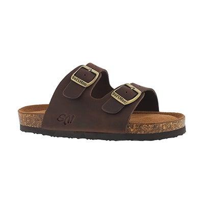 Kds Alberta 5 brn crz memory foam sandal