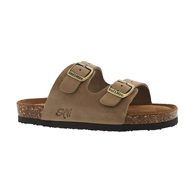 SoftMoc Kids' ALBERTA 5 taupe memory foam sandals