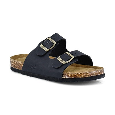 Kds Alberta 6 blk crz memory foam sandal