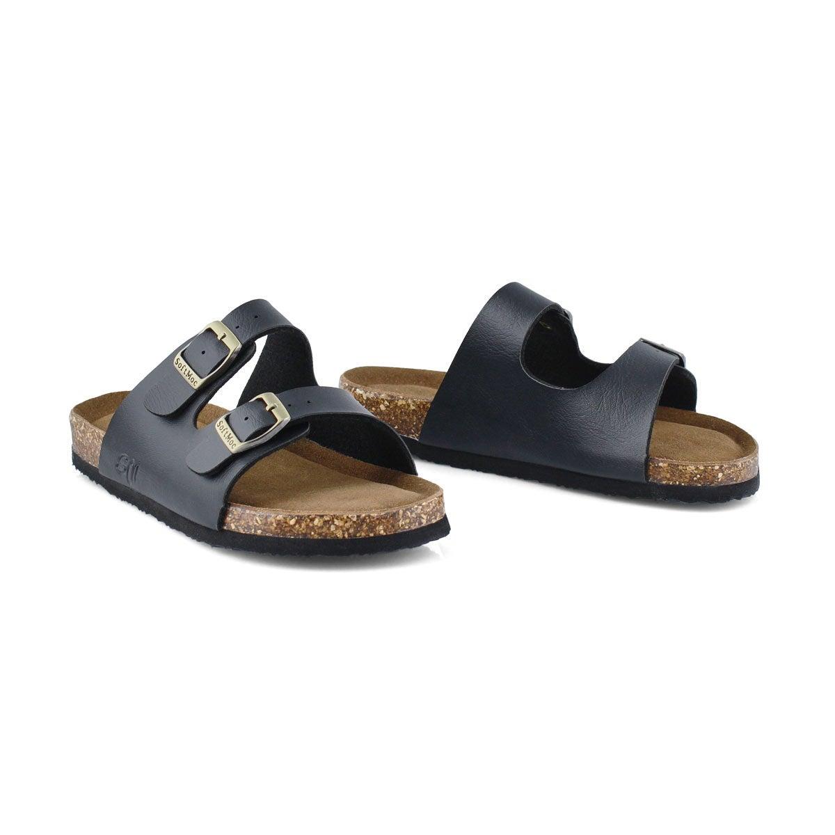 Kds Alberta 6 blk memory foam sandal