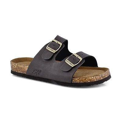 Kds Alberta 6 brn crz memory foam sandal