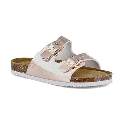 Grls Alberta6 gld pat memory foam sandal