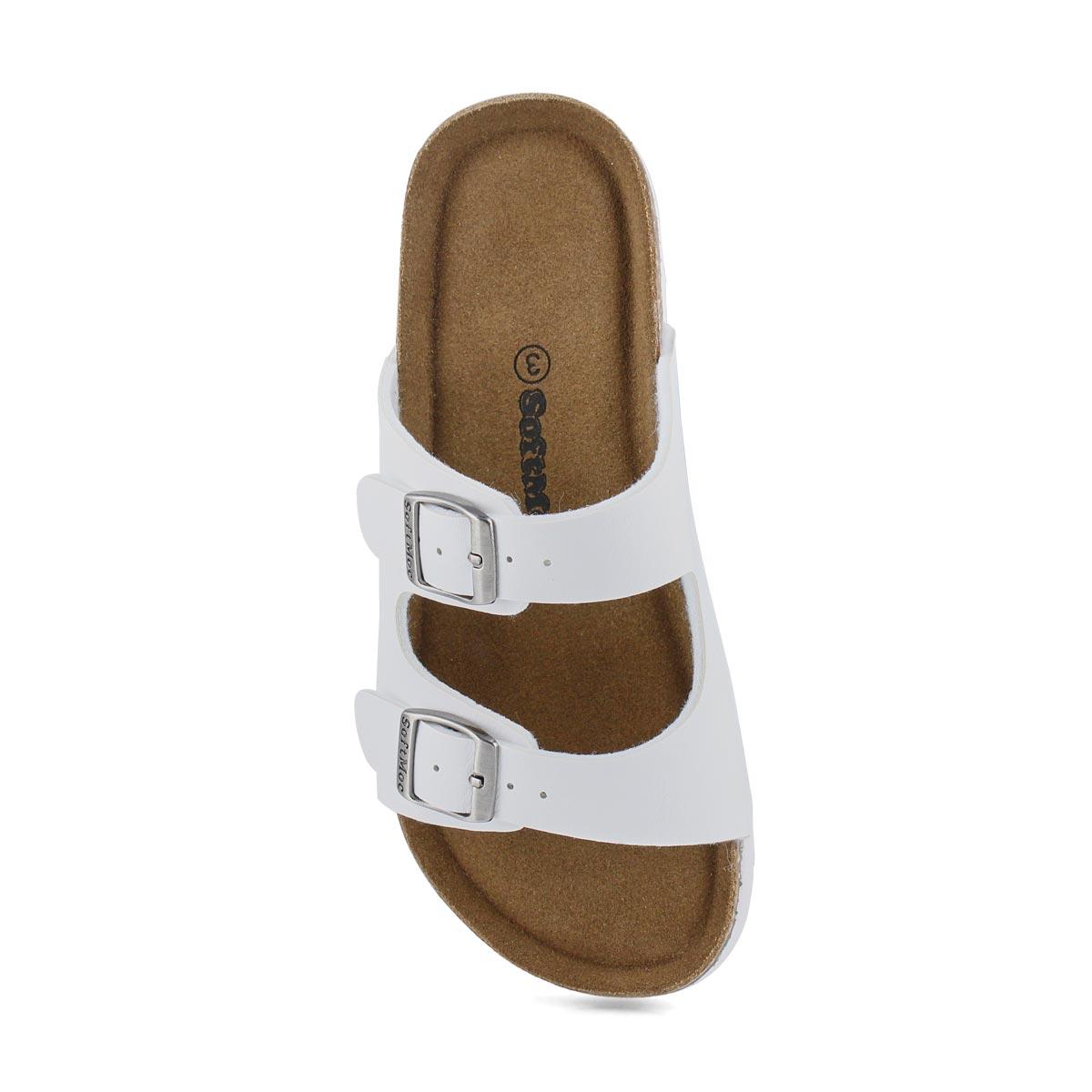 Kds Alberta 6 wht memory foam sandal