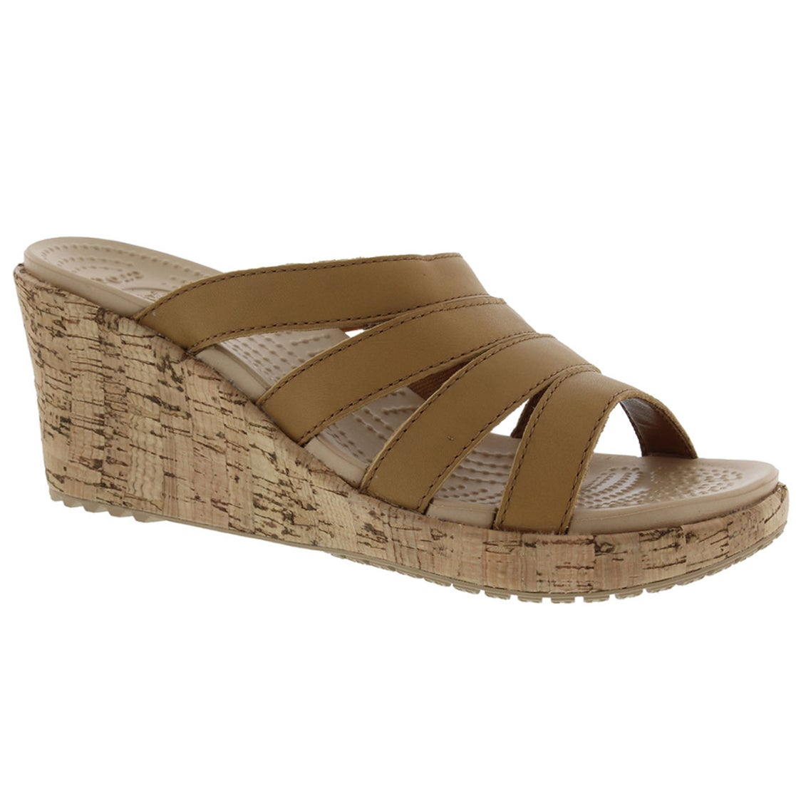 Lds Aleigh cocoa wedge slip on sandal