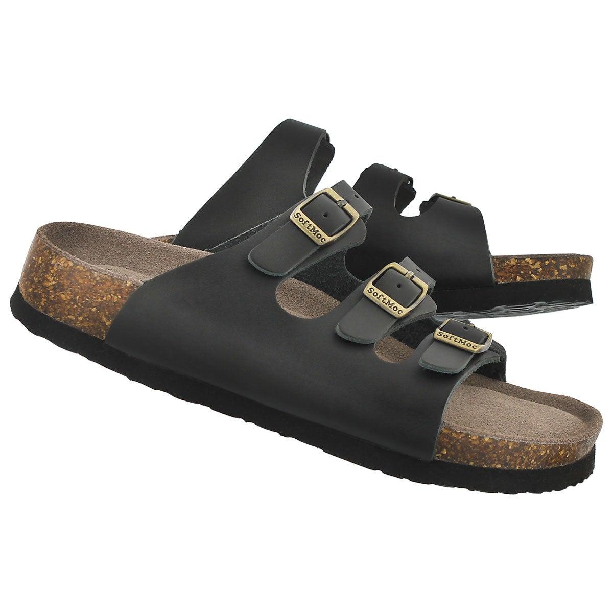 Lds Alexis 2 black memory foam sandal