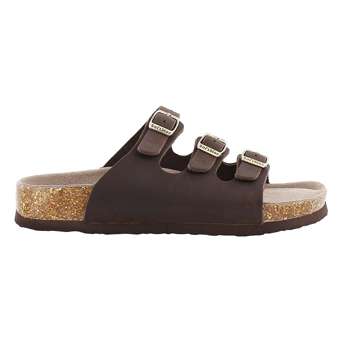 Lds Alexis 2 brn crz memory foam sandal