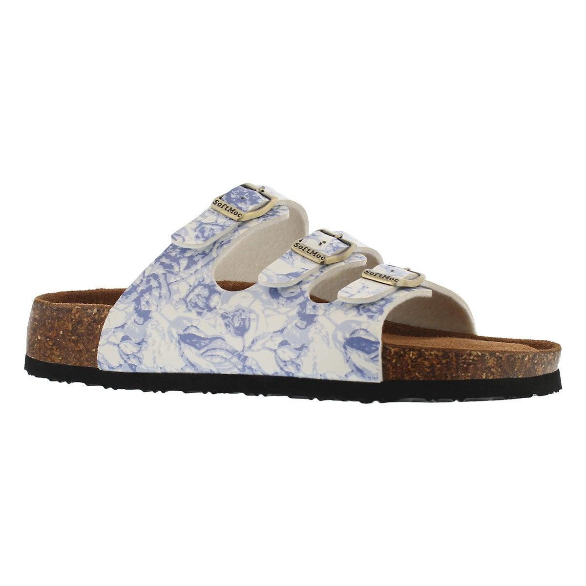 Women's ALEXIS 5 blu/flwr memory foam sandals