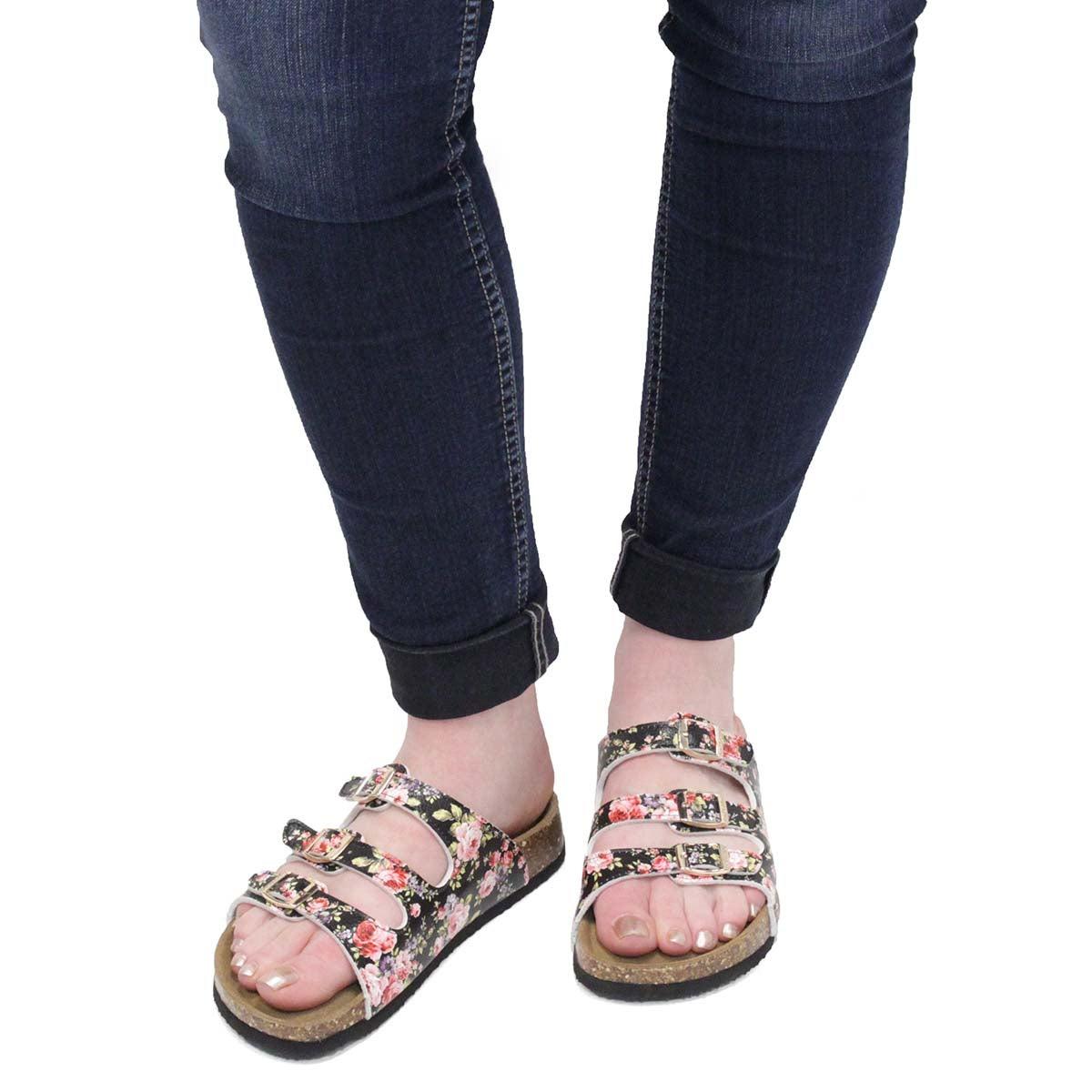 Lds Alexis 5 Flower pnk slide sandal