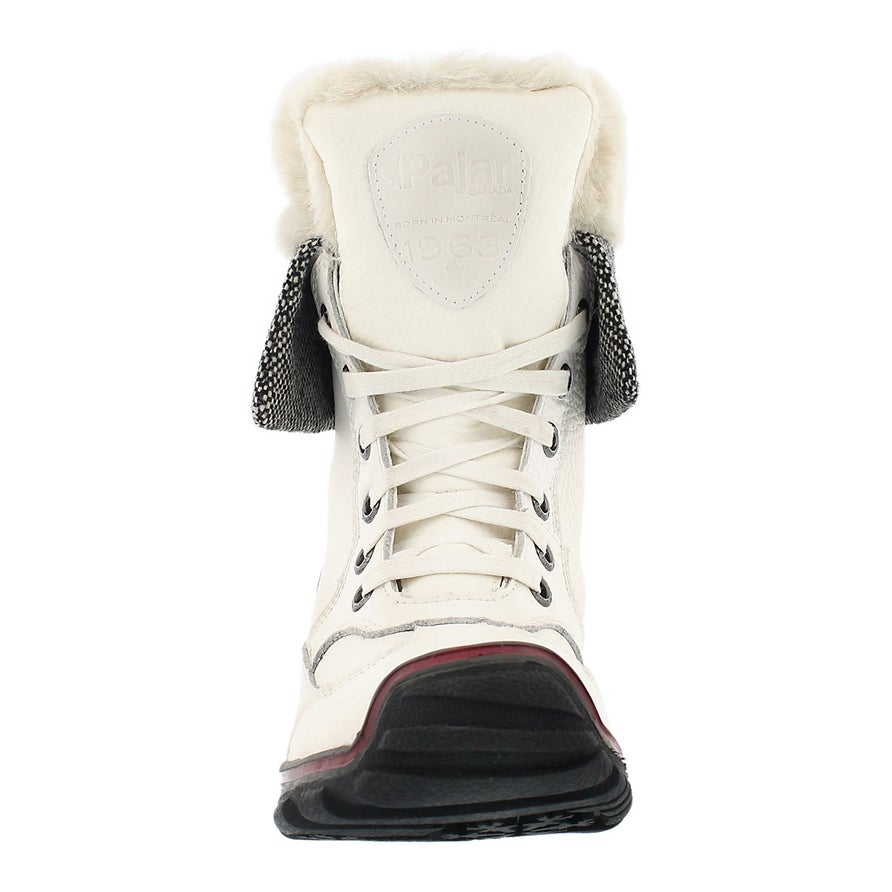 Lds Alice white lace up wtpf winter boot