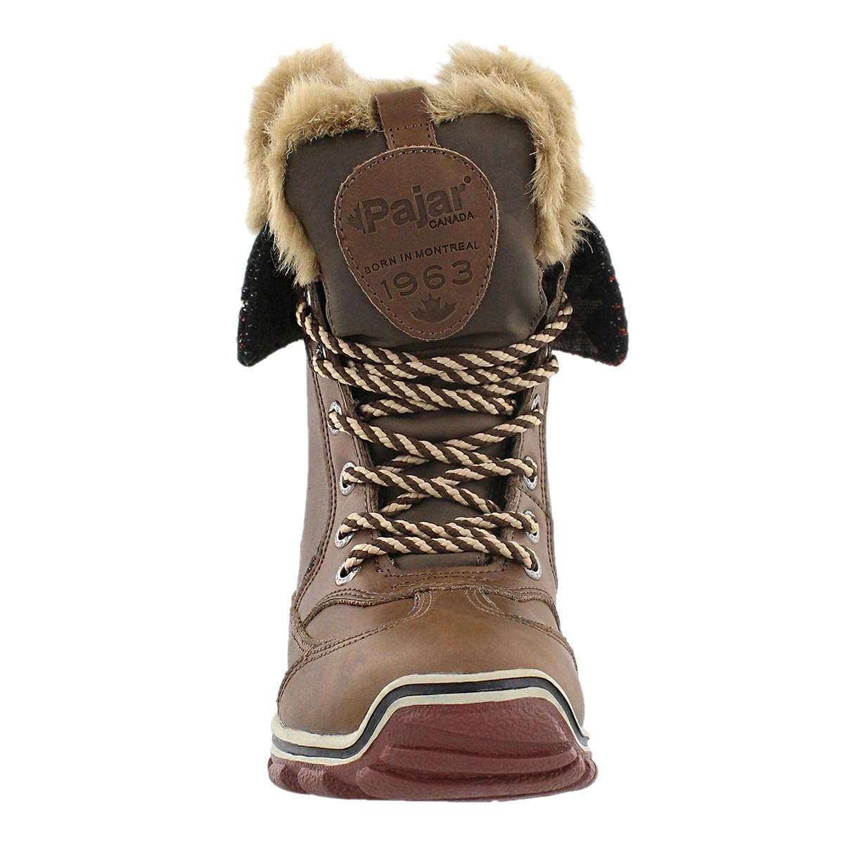 Lds Alice Native brn lace up winter boot