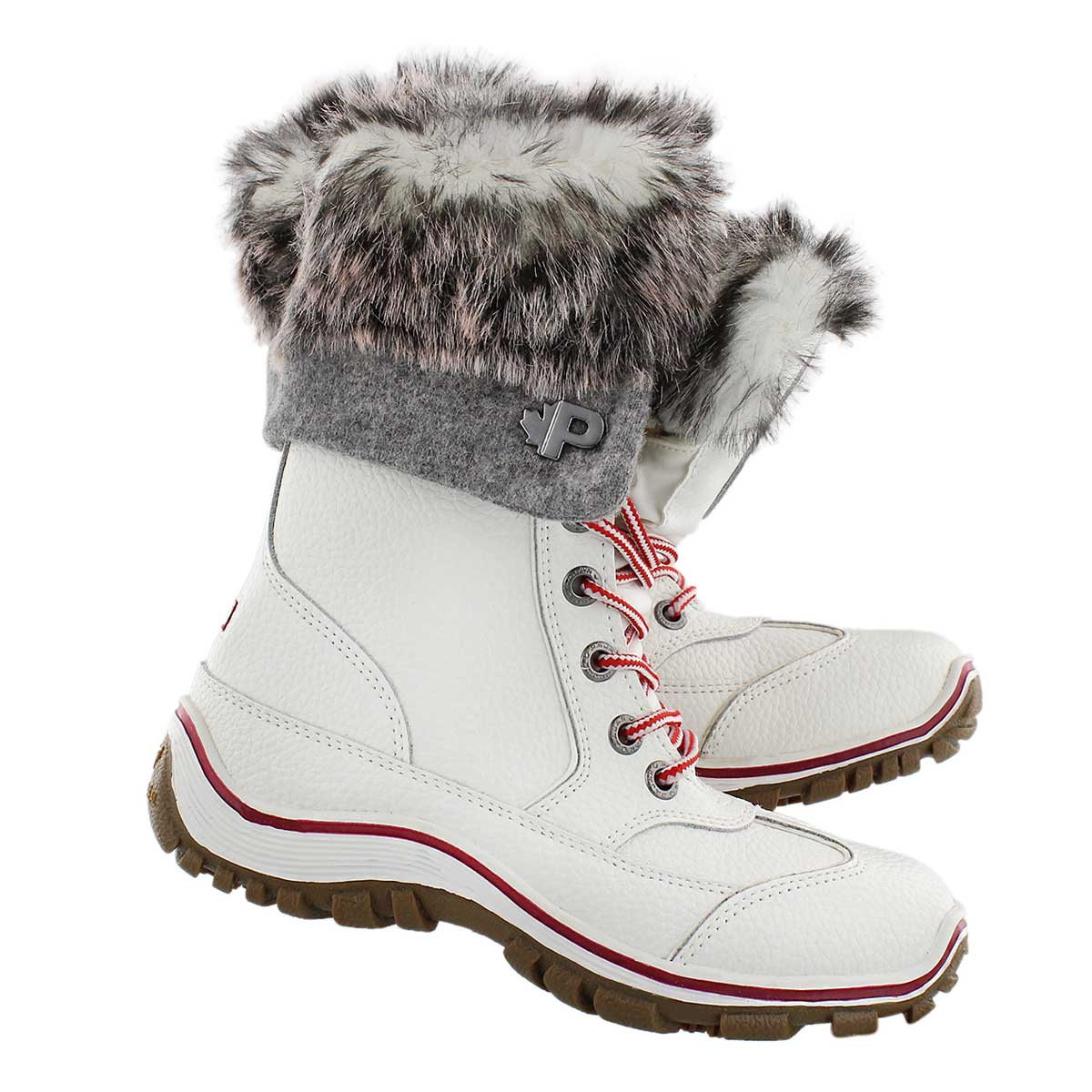 Lds Alice Native wht lace up winter boot
