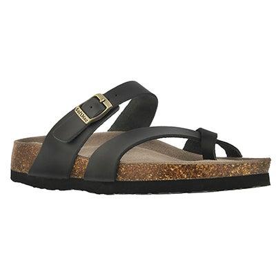 Lds Alicia 3 blk memory foam sandal