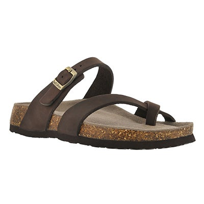 SoftMoc Women's ALICIA 3 brown memory foam sandals