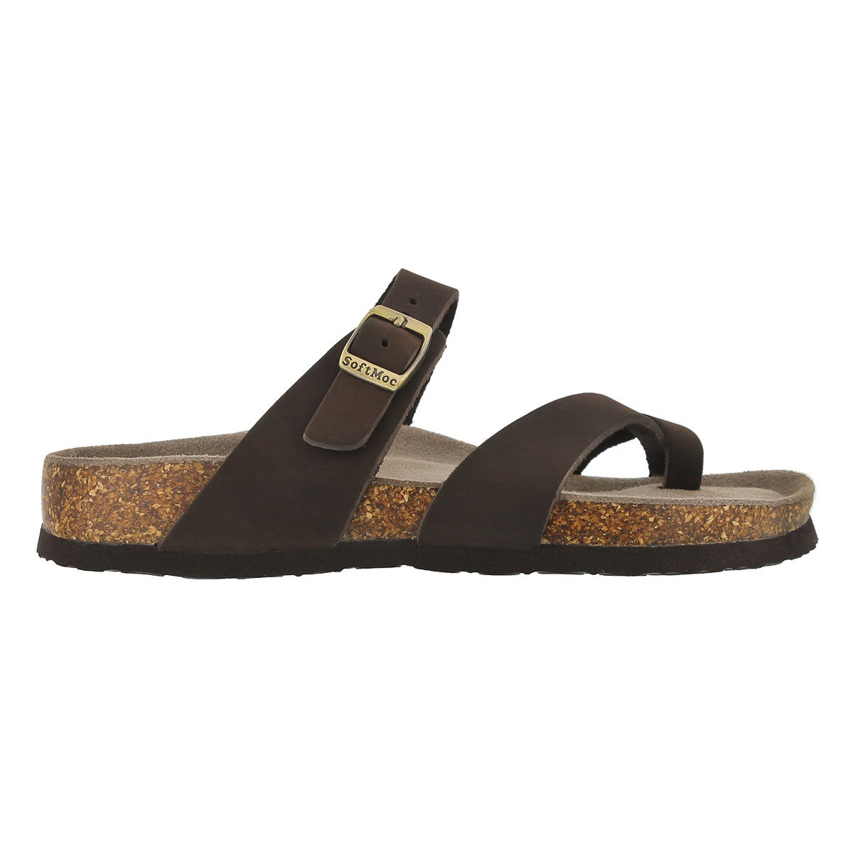 Lds Alicia 3 brn crz memory foam sandal