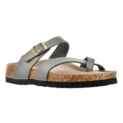 SoftMoc Women's ALICIA 3 pewter memory foam sandals
