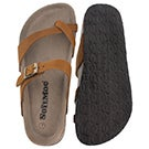 Lds Alicia 3 tan crz memory foam sandal