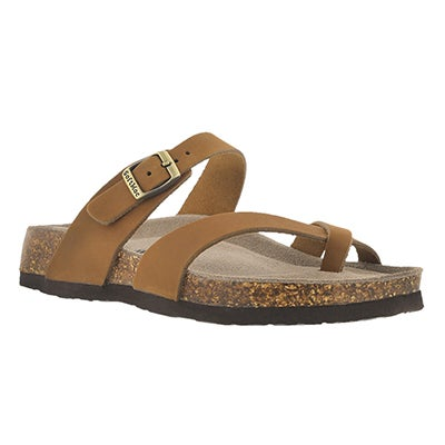 SoftMoc Women's ALICIA 3 tan memory foam sandals