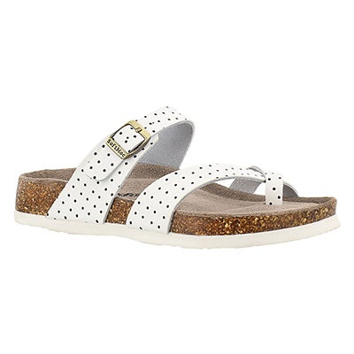 SoftMoc Women's ALICIA 3 white/black memory foam sandals