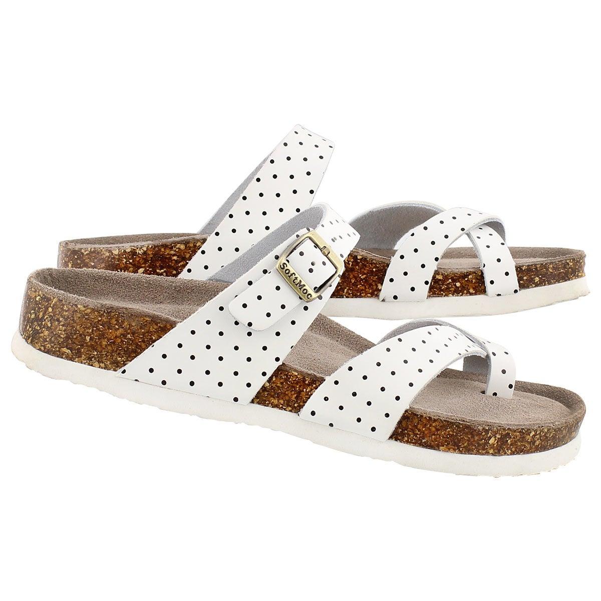 Sandale ALICIA 3, blanc/noir, femmes