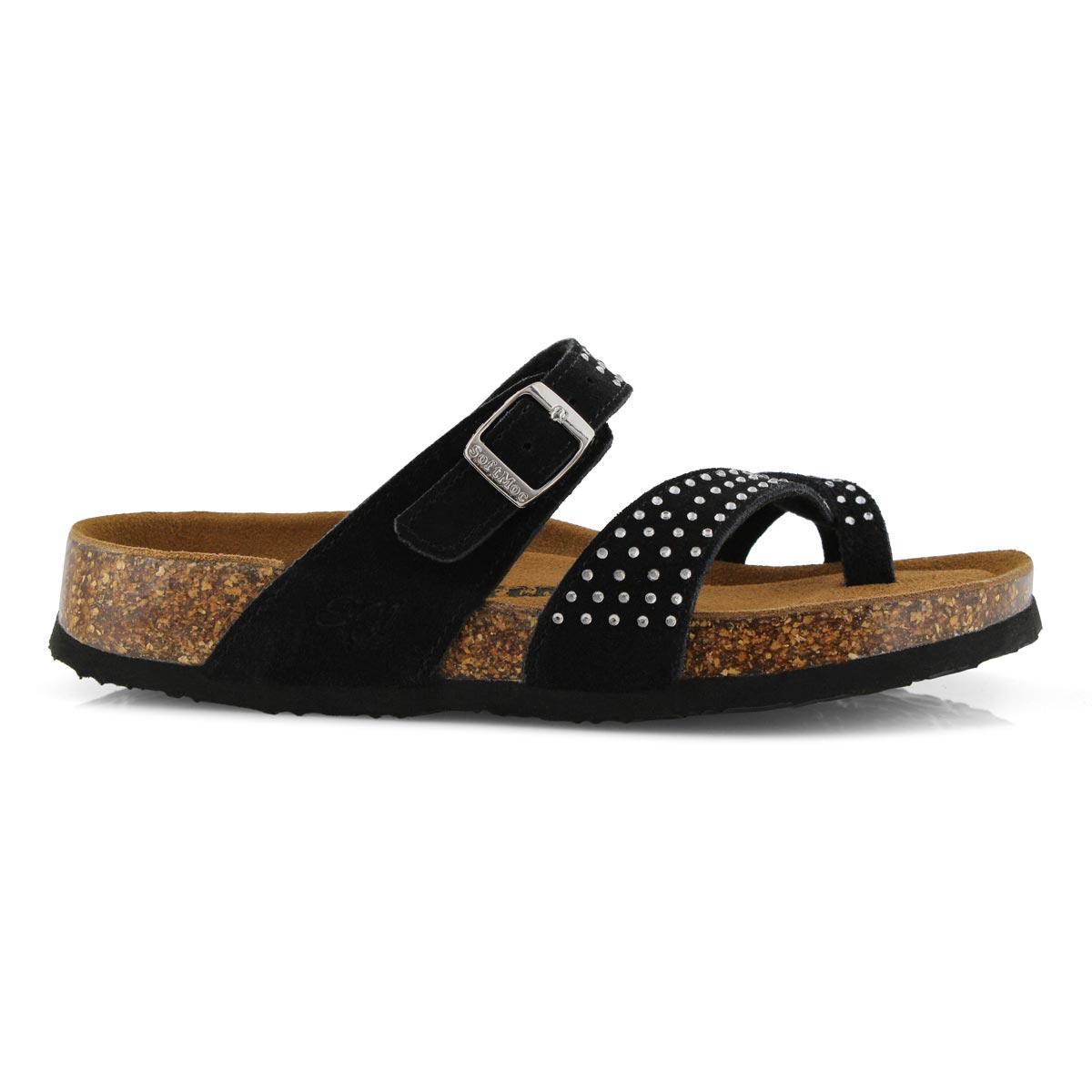 Lds Alicia 5 Bling blk mem foam sandal