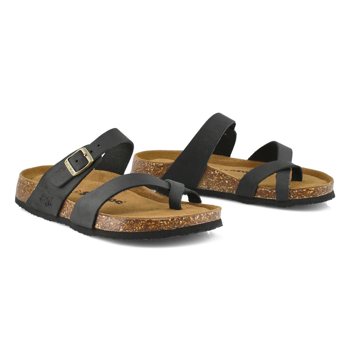 Lds Alicia 5 blk crz memory foam sandal