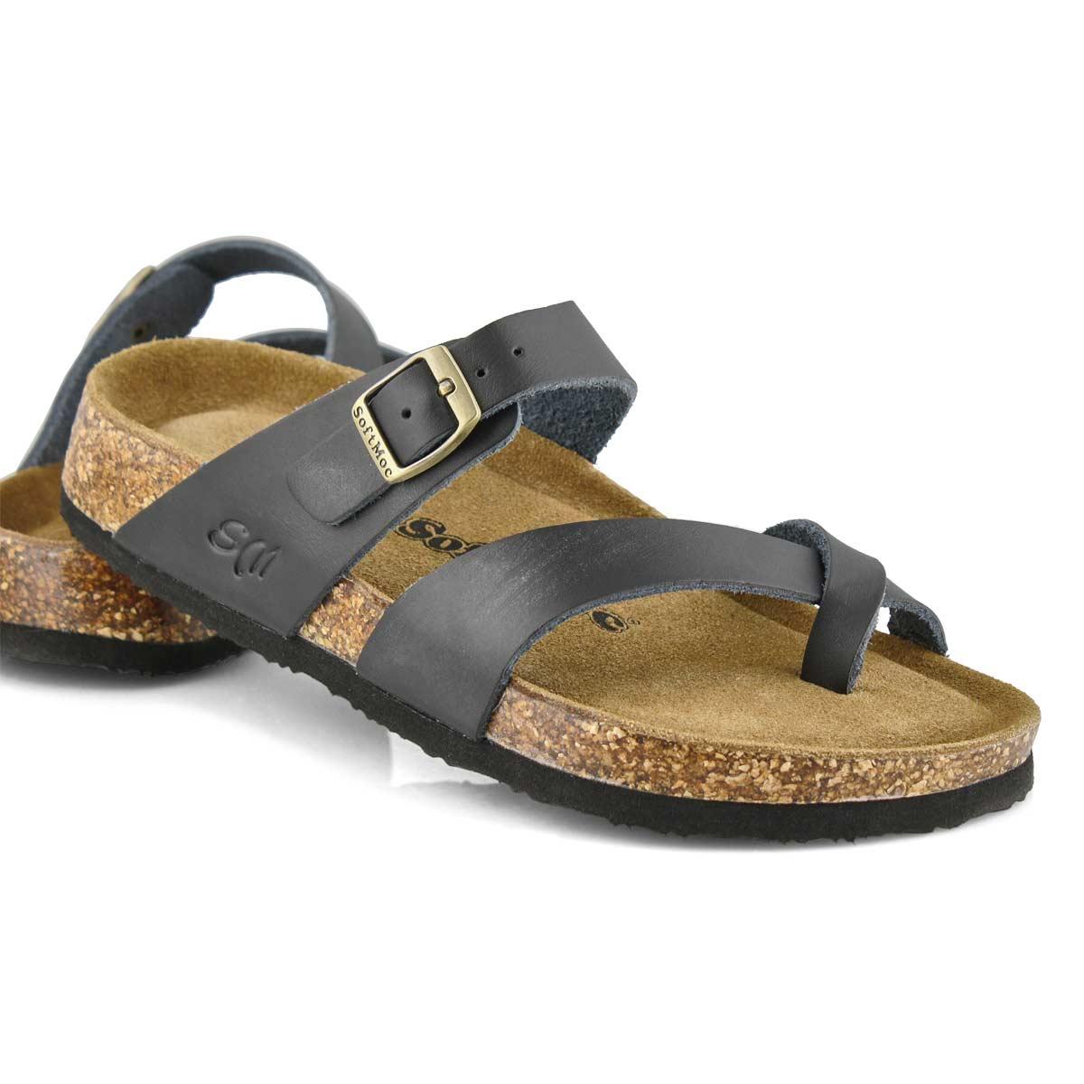 Lds Alicia 5 blk memory foam sandal