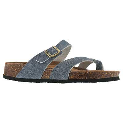 Lds Alicia 5 denim memory foam sandal