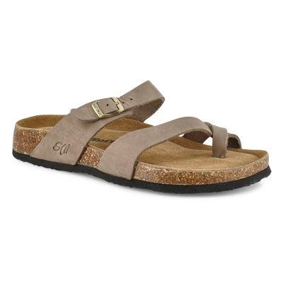 Sandale Alicia5, mousse viscoé.,gris,fem