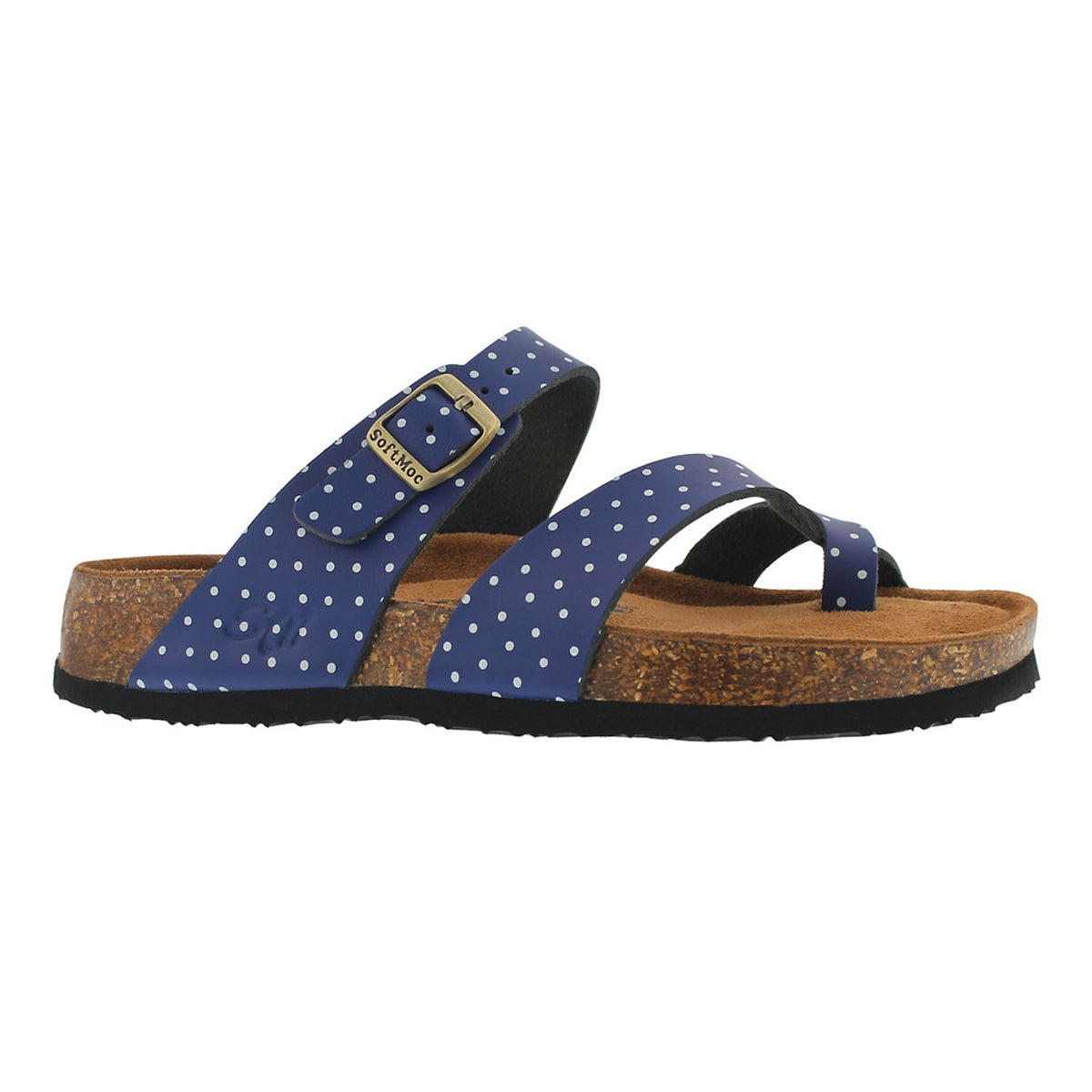 Women's ALICIA 5 navy/white memory foam sandals