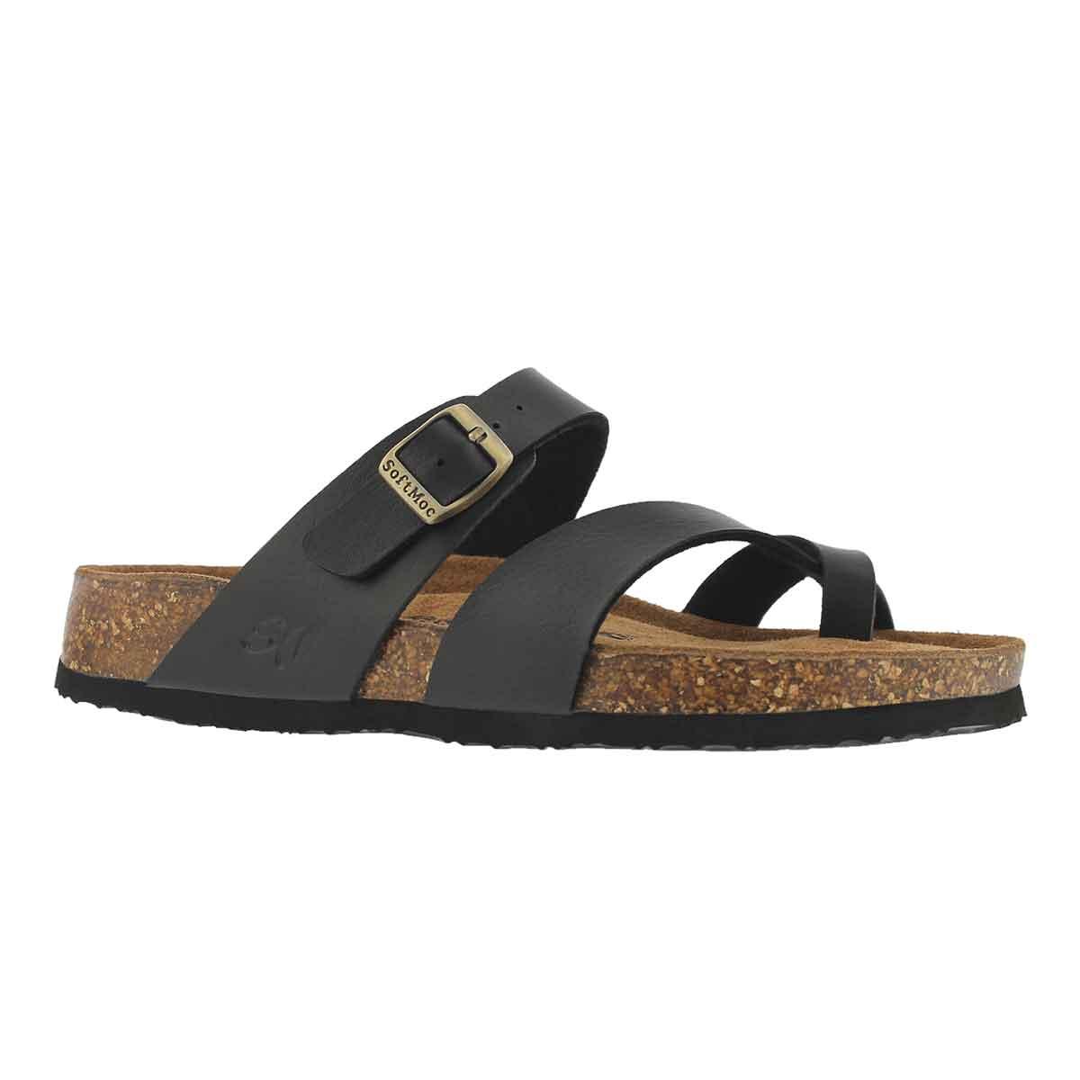 Women's ALICIA 5 PU black memory foam sandals