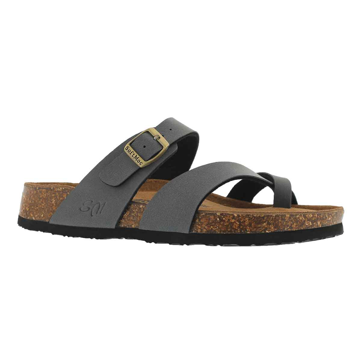 Women's ALICIA 5 PU grey memory foam sandals