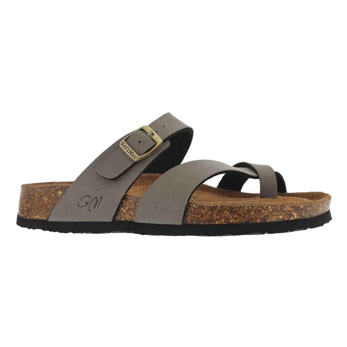 Women's ALICIA 5 PU taupe memory foam sandals