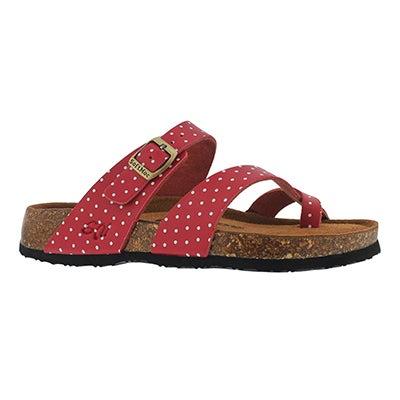 Lds Alicia 5 rd/wt memory foam sandal