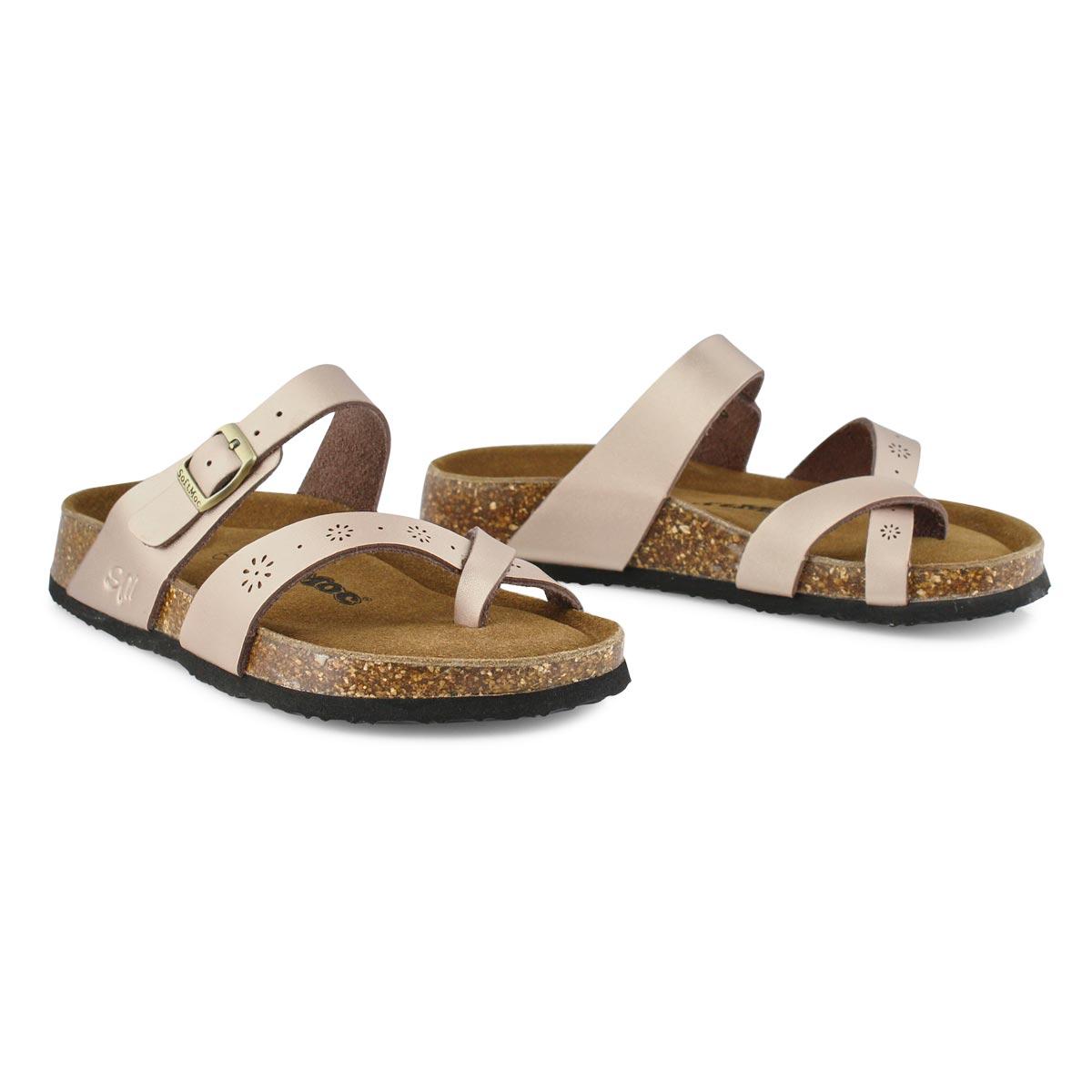 Lds Alicia 5 rse gld prf mem foam sandal