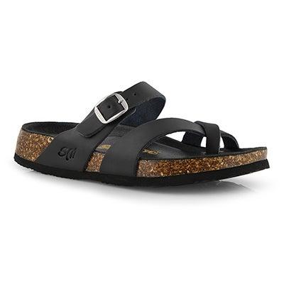 Lds Alicia5 Smooth black slide sandal