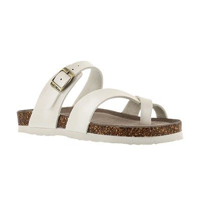 SoftMoc Girls' ALICIA moonstone toe loop sandals
