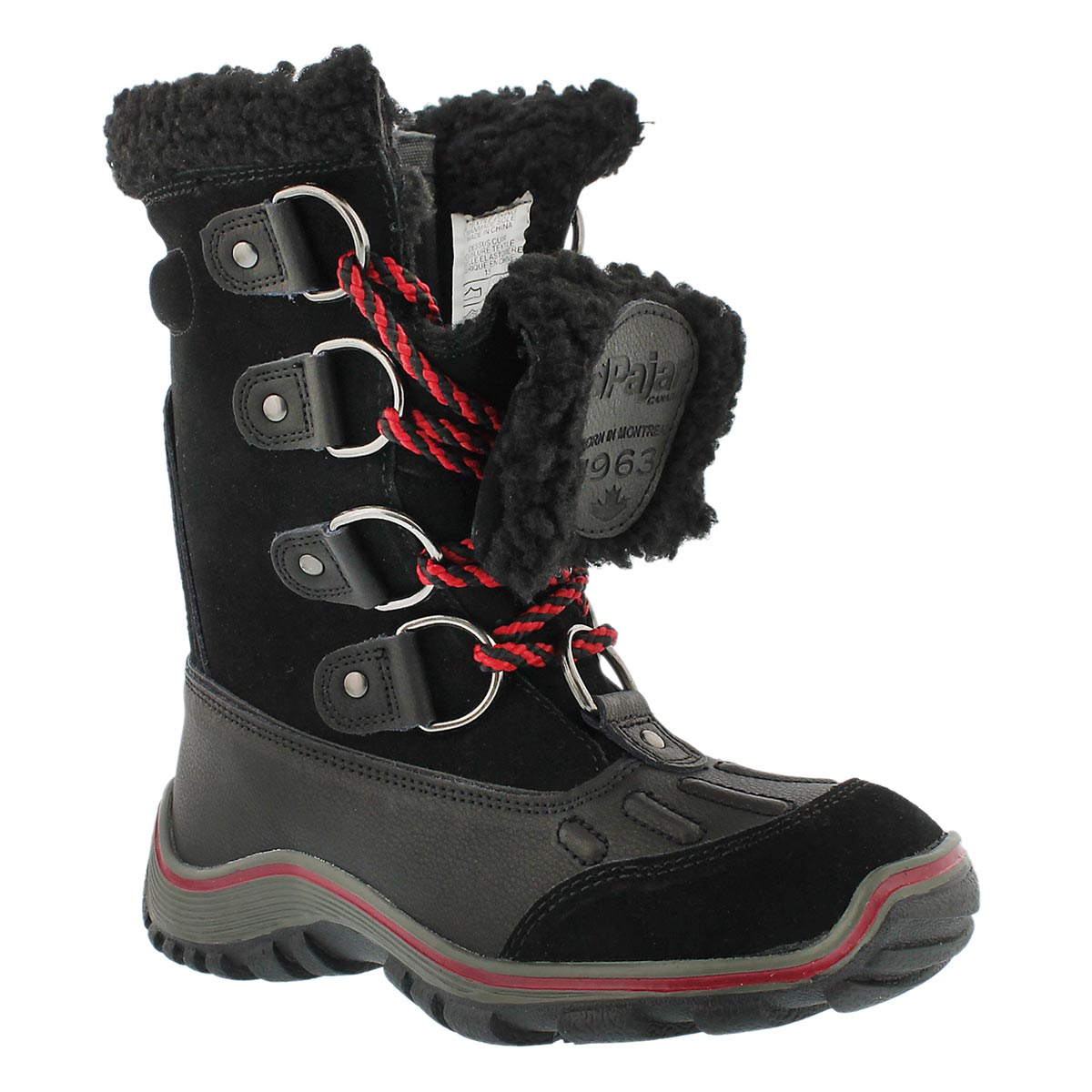 Women's ALINA blk lace up waterproof winter boots