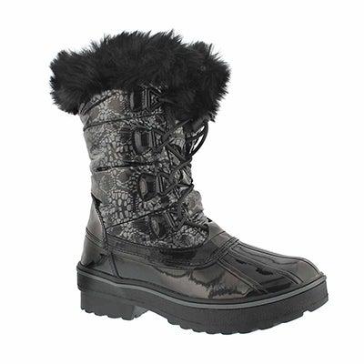 Grls Alisha black/silver wpf winter boot