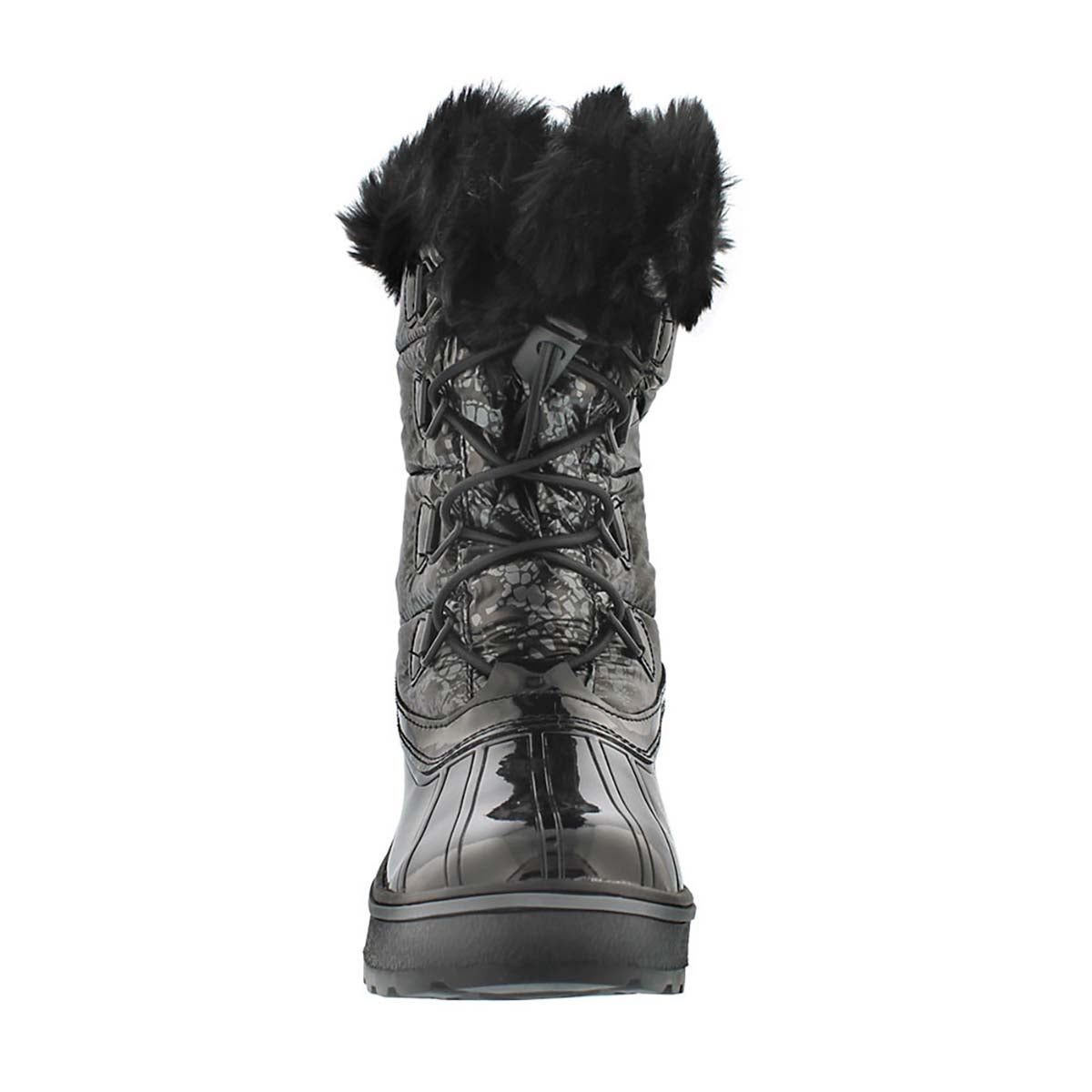 Grls Alisha black/silver wpf winter boot