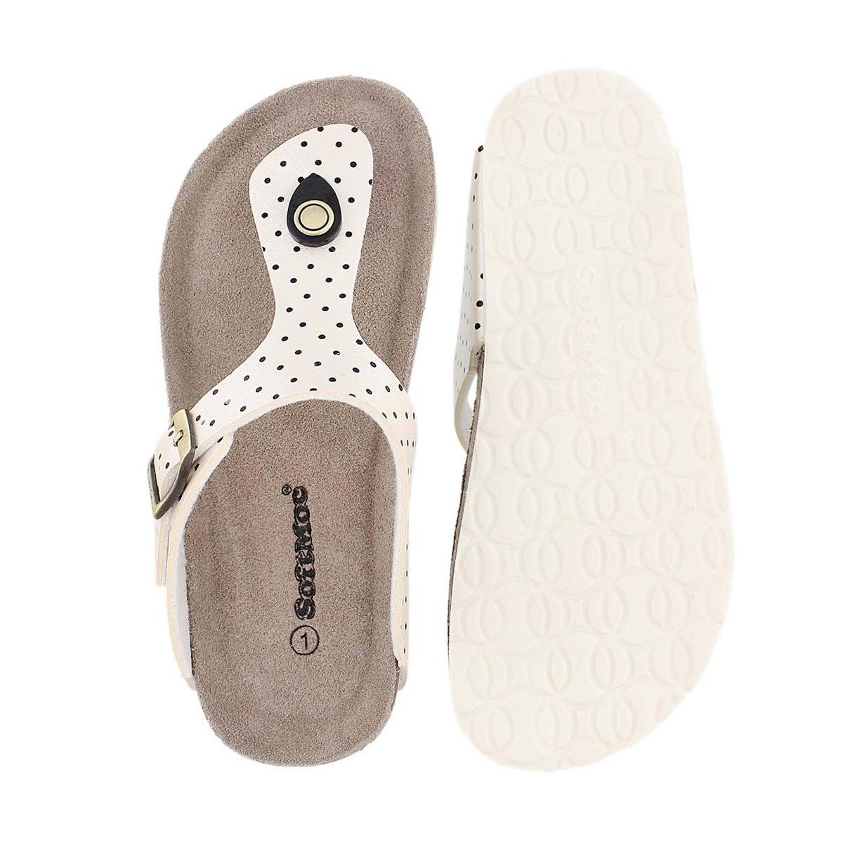 Sandale tong ALISON2, blanc/noir, filles
