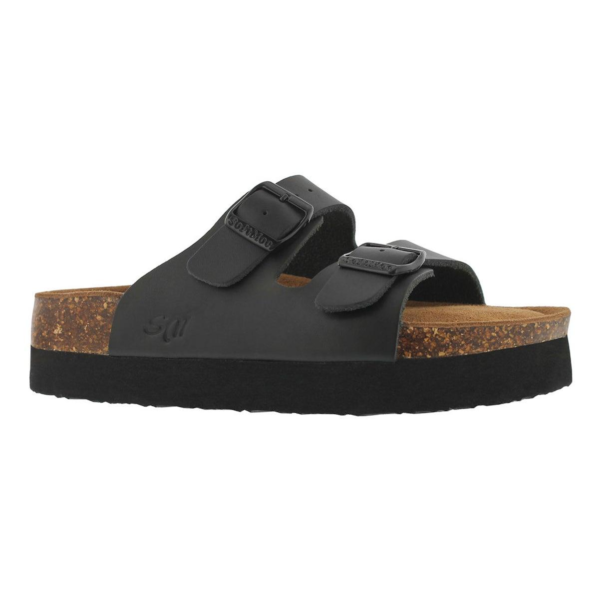 Women's ALIYAH 5 black memory foam slide sandals
