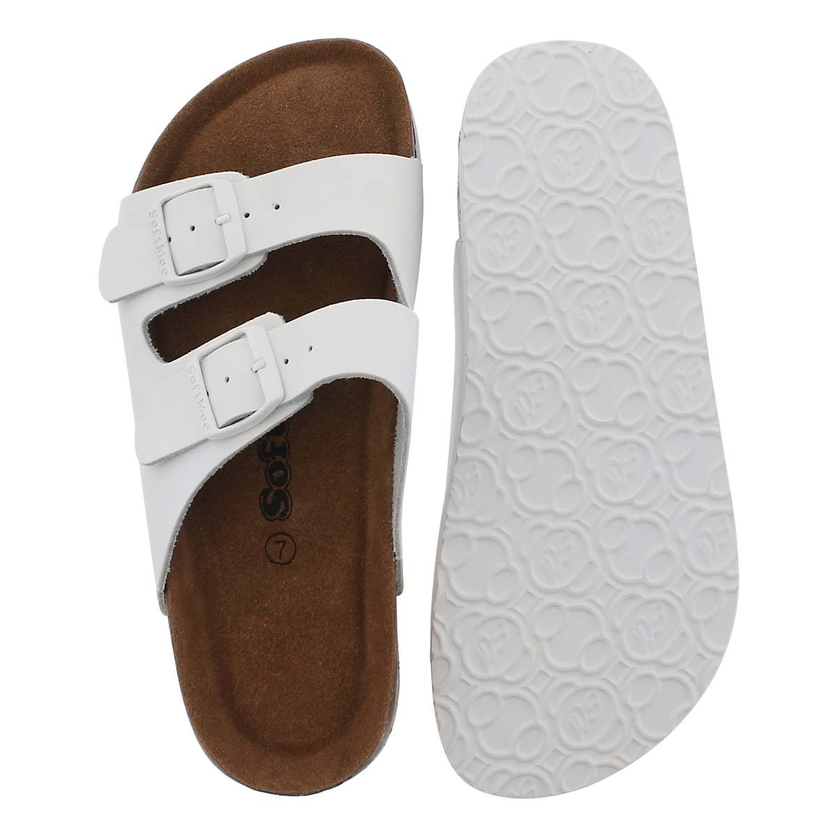 Lds Aliyah 5 wht memory foam slide sndl