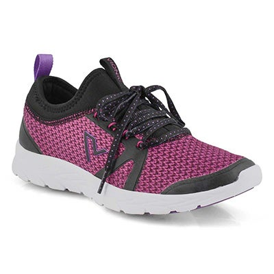 Lds Alma black/pink lace up sneaker