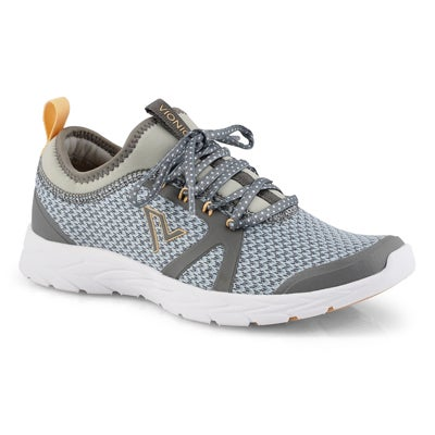 Lds Alma grey/blue lace up sneaker
