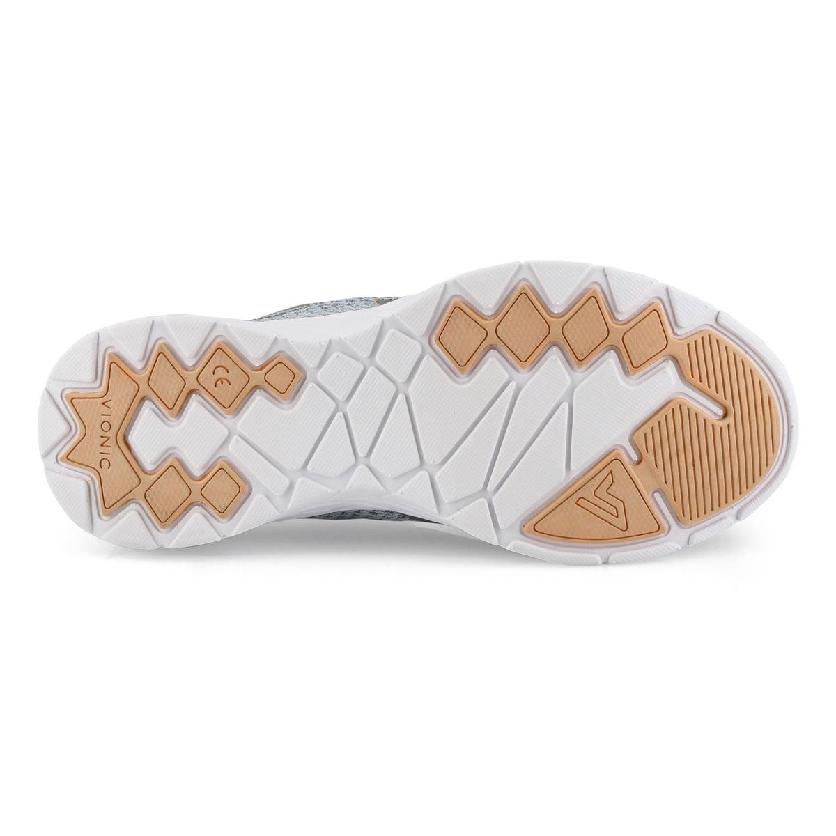 Lds Alma grey/blue lace up sneaker